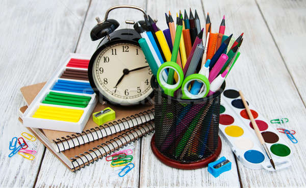 School office supplies Stock photo © almaje