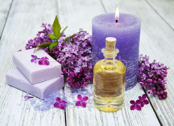 Spa сирень цветы массаж продукции цветок Сток-фото © almaje