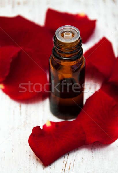 çiçek yaprakları aromaterapi gül cam Stok fotoğraf © almaje