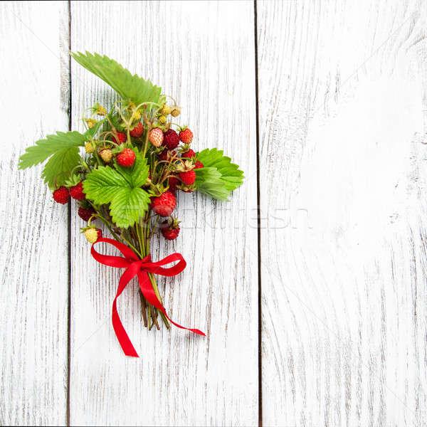 bunch of wild strawberry Stock photo © almaje