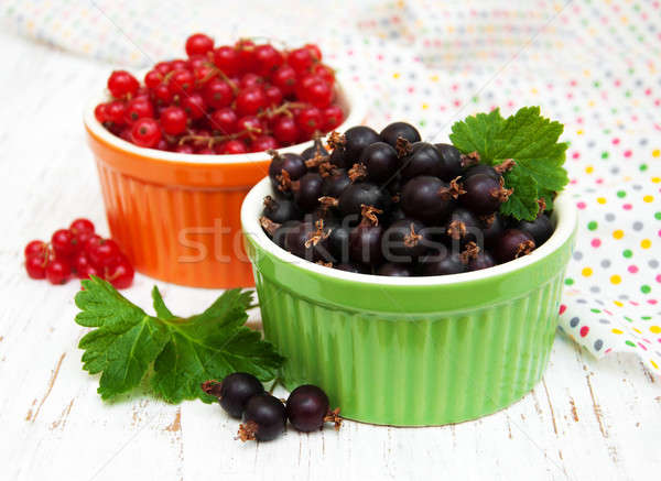 fresh red and black currant Stock photo © almaje