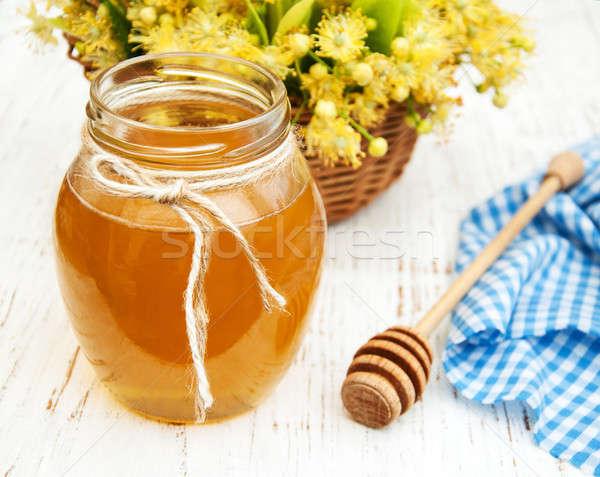 Jar with honey Stock photo © almaje