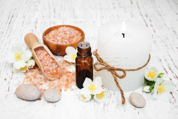 essential oil with jasmine flower Stock photo © almaje