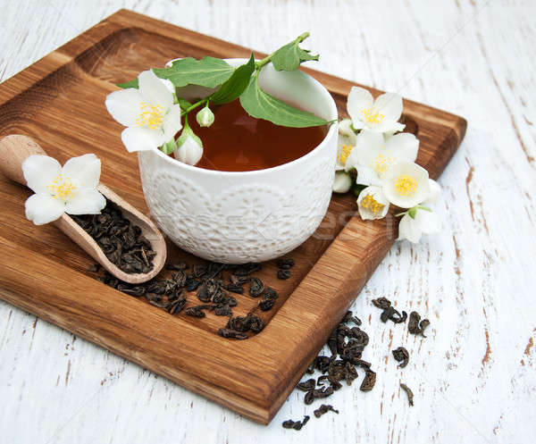 Cup of tea with jasmine flowers Stock photo © almaje