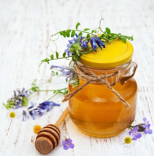 Mel flores silvestres comida madeira natureza Foto stock © almaje