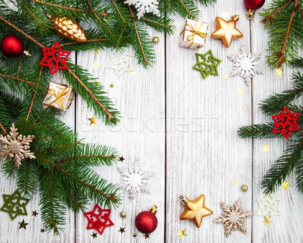 Christmas decoratie tabel winter Stockfoto © almaje