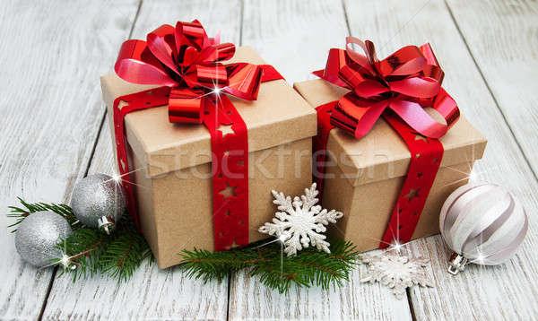 Zdjęcia stock: Christmas · dekoracje · starych · papieru
