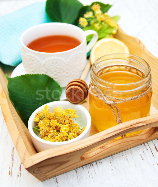 cup of herbal tea with honey  Stock photo © almaje
