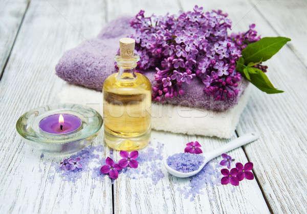 Spa сирень цветы массаж продукции здоровья Сток-фото © almaje