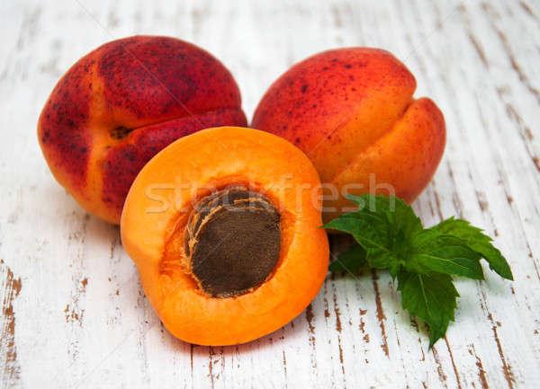 Fresh apricots Stock photo © almaje