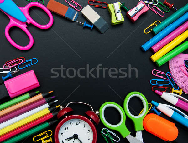 school supplies  border Stock photo © almaje