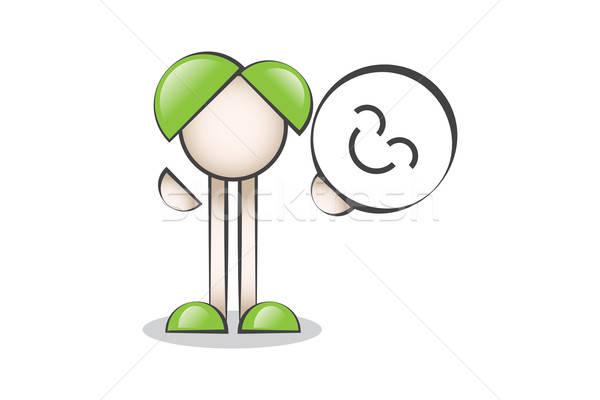 Çizgi Karakter Gülen yüz ve Mutluluk Stock photo © alozar