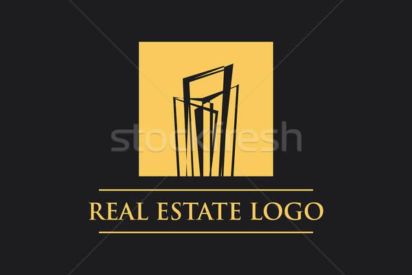 Vektör Logo İkon Emlak Yapı İnşaat Stock photo © alozar