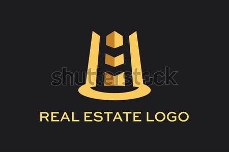 Stock photo: Vektör Logo İkon Emlak Yapı İnşaat