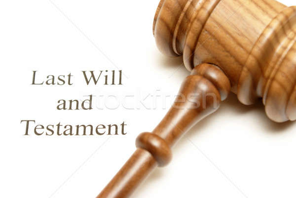 Last Will and Testament Papers Stock photo © AlphaBaby