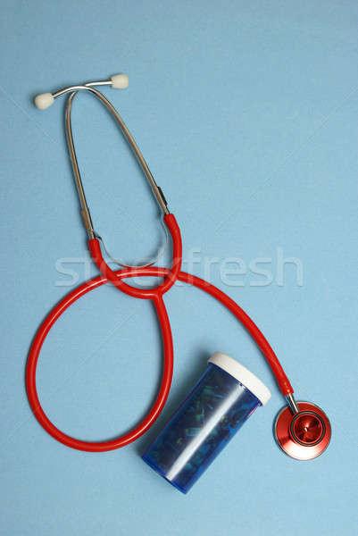 медицинской лечение стетоскоп таблетки бутылку Сток-фото © AlphaBaby
