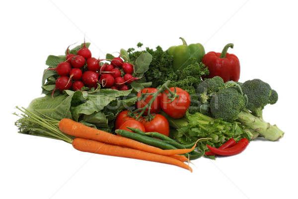 Sebze sebze beyaz gıda Stok fotoğraf © AlphaBaby
