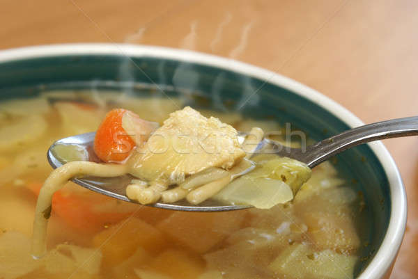 Hearty Chicken Noodle Soup Stock photo © AlphaBaby