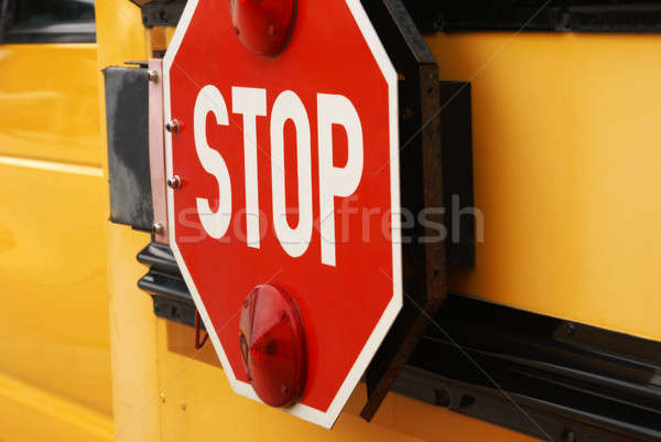 School Bus Stop Sign Stock photo © AlphaBaby