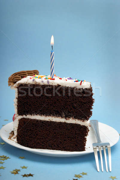 Cake and Candle Stock photo © AlphaBaby