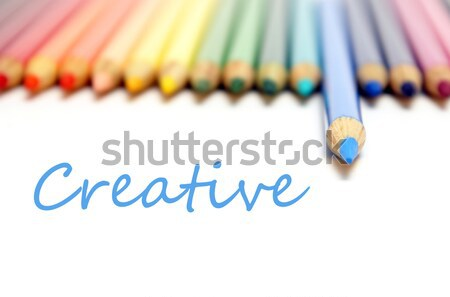 карандашом карандашей спектр синий один Сток-фото © AlphaBaby