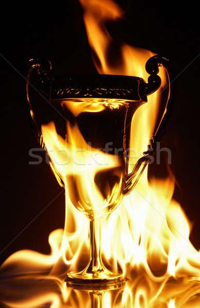 Glória para baixo esportes metal ouro Foto stock © AlphaBaby