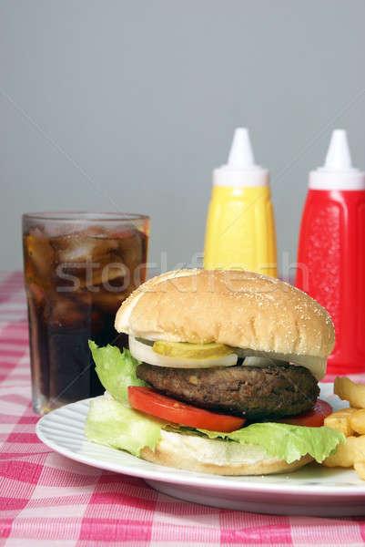 Hamburger Meal Stock photo © AlphaBaby