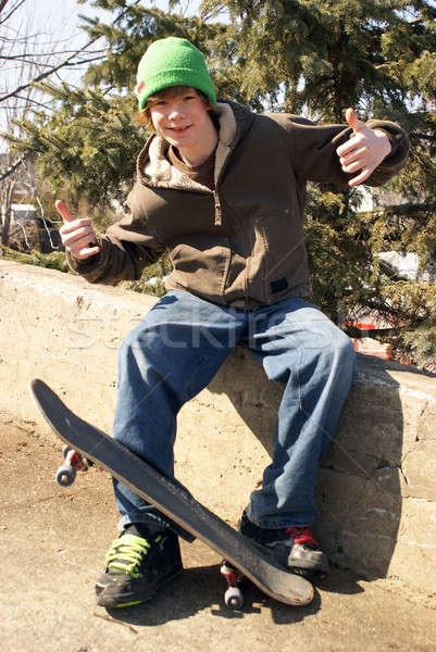 Skateboarder Pose Stock photo © AlphaBaby