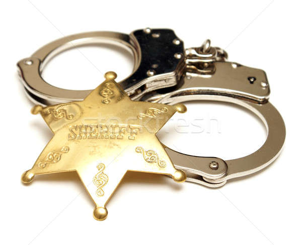 Sheriff Badge and Handcuffs Stock photo © AlphaBaby