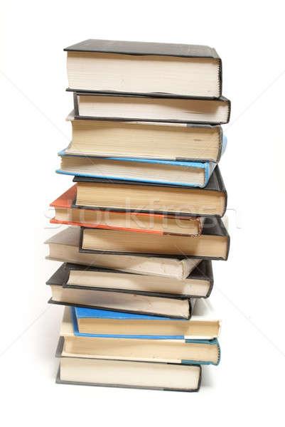 Stok fotoğraf: Kitaplar · kule · entellektüel · yalıtılmış · beyaz