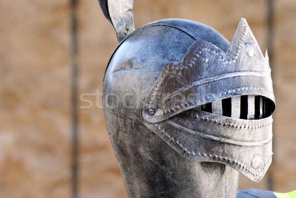 Armadura metal seguridad traje castillo cabeza Foto stock © AlphaBaby
