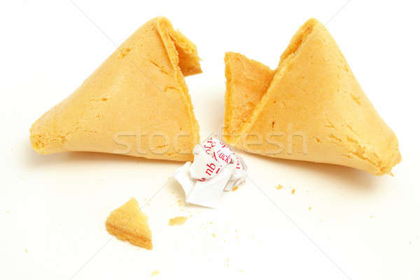 Bad fortune cookie screpolato open messaggio palla Foto d'archivio © AlphaBaby