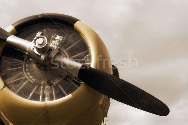War Plane Monument Stock photo © AlphaBaby