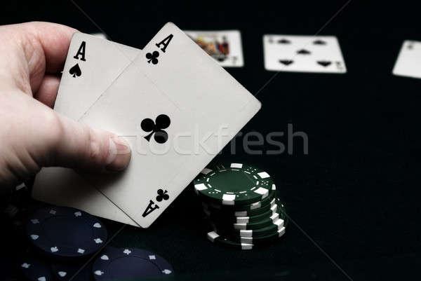 Pocket Aces Poker Stock photo © AlphaBaby