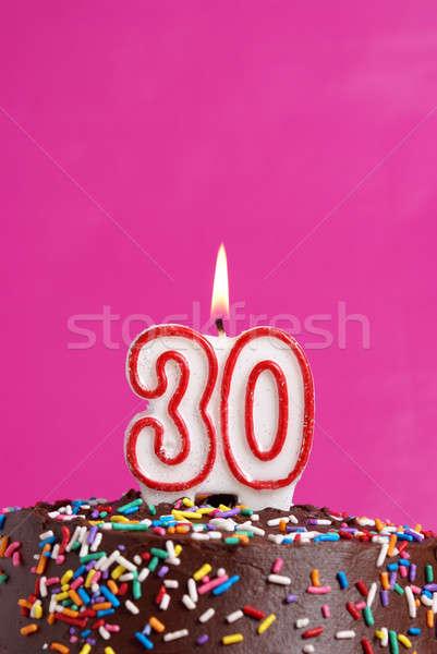 ünnepel harminc évek szám gyertya ünneplés Stock fotó © AlphaBaby
