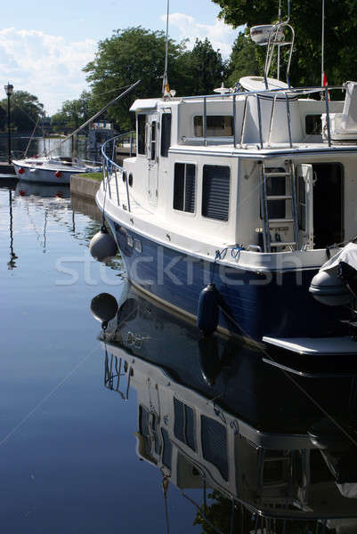 Boat Closeup on Waterway Stock photo © AlphaBaby