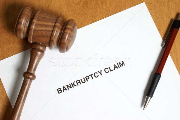 Csőd követelés soha terv út ki Stock fotó © AlphaBaby