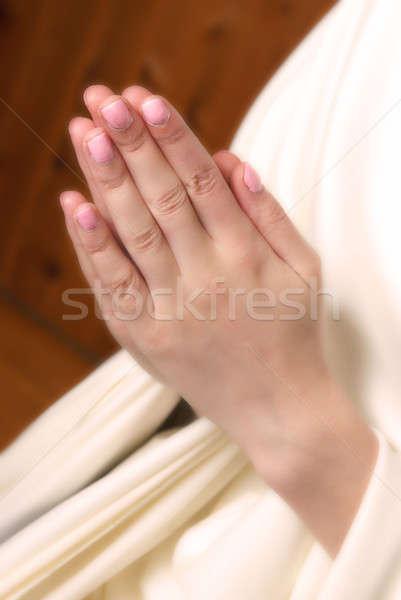 молитвы рук вместе отец небо Сток-фото © AlphaBaby