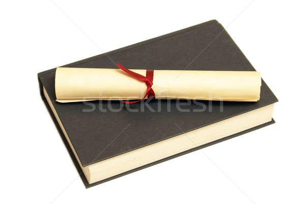 Libro de texto éxito diploma educación temas papel Foto stock © AlphaBaby