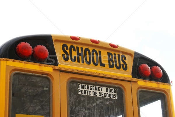 Сток-фото: школьный · автобус · мнение · назад · детей · студент