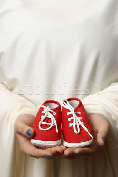 Nieuwe begin moeder schoenen welkom begin Stockfoto © AlphaBaby