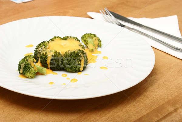 Pequeño porción brócoli luz verde cena Foto stock © AlphaBaby