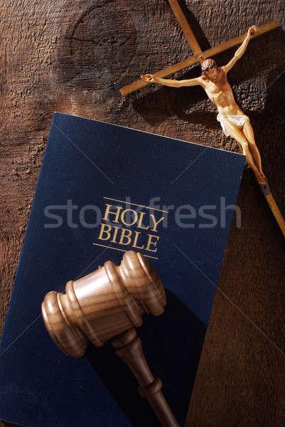 Isten konzerv bíró csendélet üzenet isteni Stock fotó © AlphaBaby