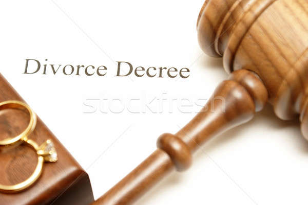 Divorce Papers Stock photo © AlphaBaby