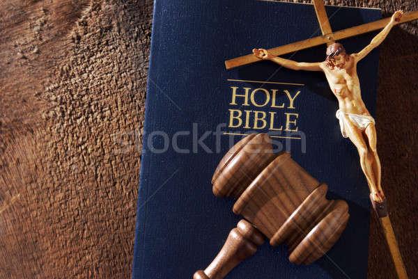 Deus lata juiz natureza morta mensagem divino Foto stock © AlphaBaby