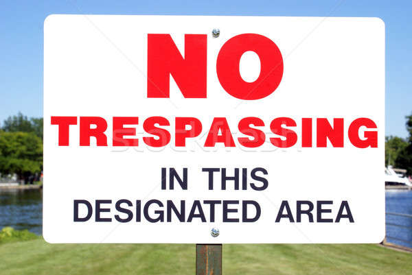 No Trespassing Signage Stock photo © AlphaBaby