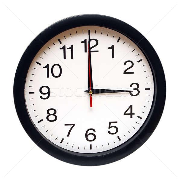 Drie geïsoleerd klok tijd business Stockfoto © AlphaBaby