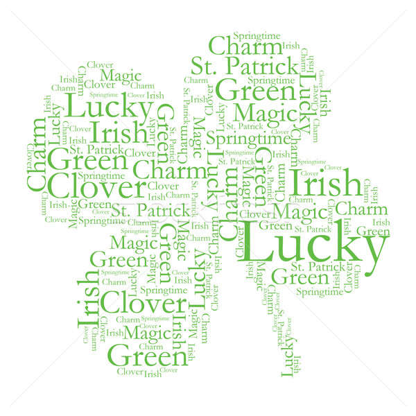 Clover Font Design Stock photo © AlphaBaby