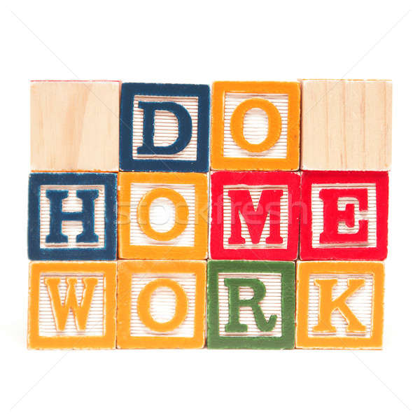 Do Home Work Stock photo © AlphaBaby
