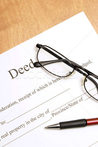 Deed Papers Stock photo © AlphaBaby